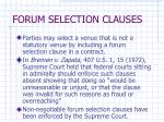 forum selection clauses
