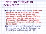hypos on stream of commerce