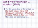 world wide volkswagen v woodson 1980