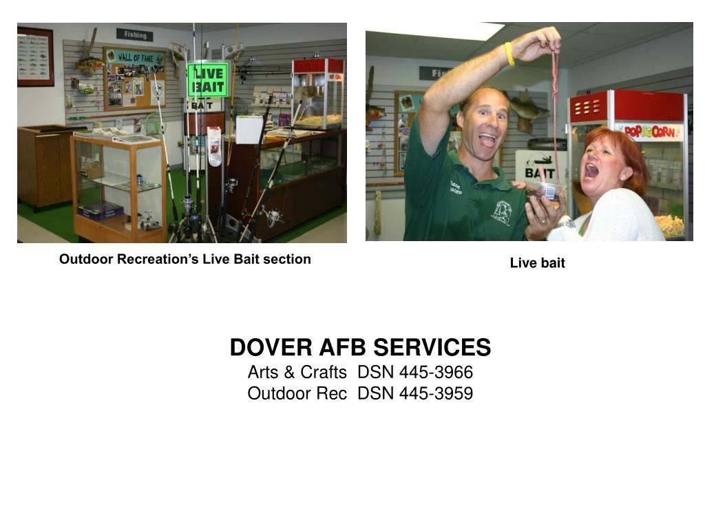 Outdoor Recreation's Live Bait section