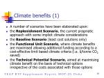 climate benefits 1