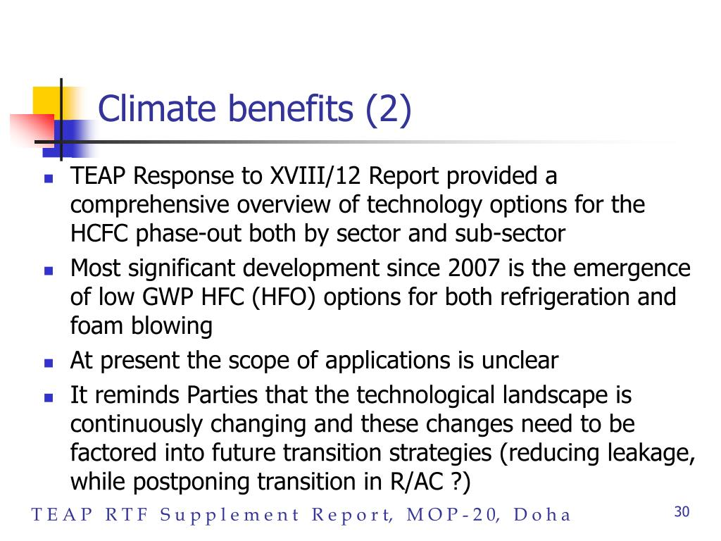 Climate benefits (2)