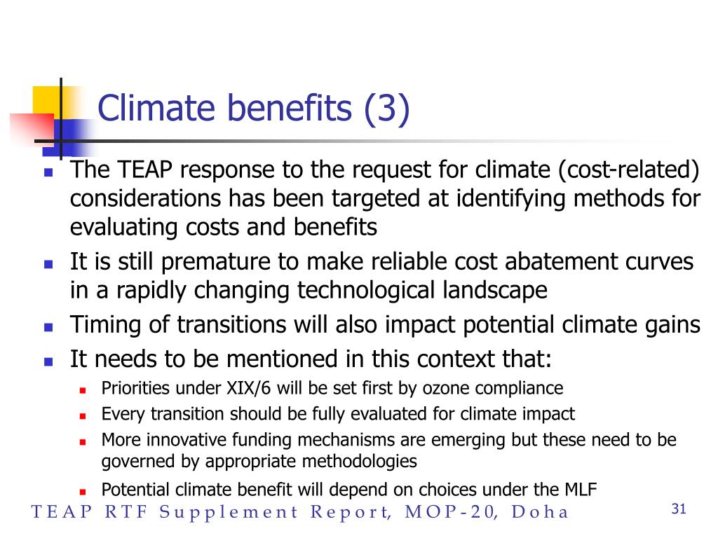 Climate benefits (3)