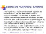 exports and multinational ownership