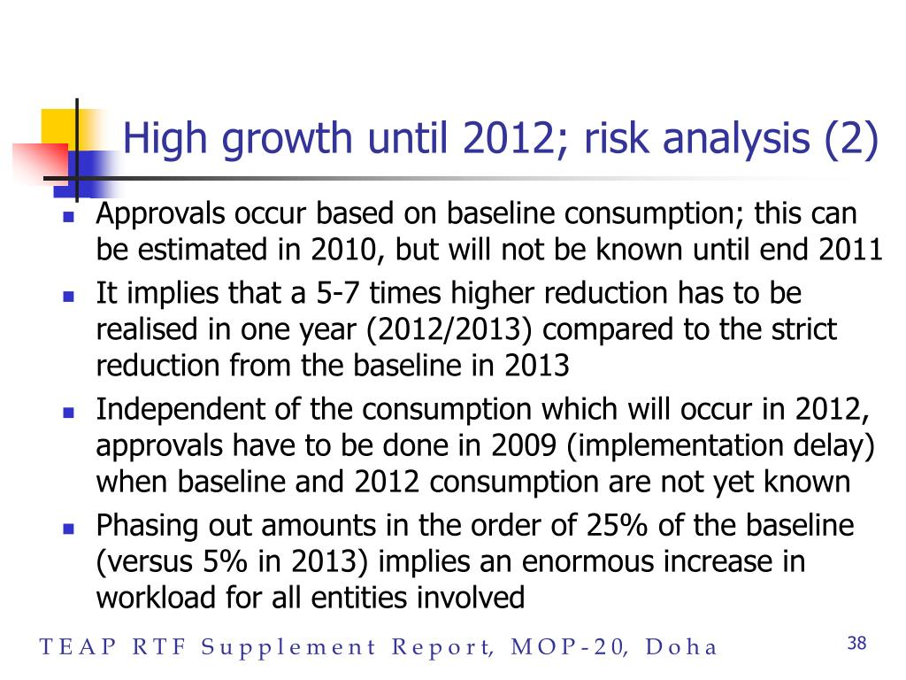 High growth until 2012; risk analysis (2)