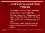 cardholder departmental penalties