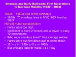 omnibus and early railroads first innovations to increase mobility 1830 18609