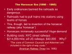 the horsecar era 1860 1895