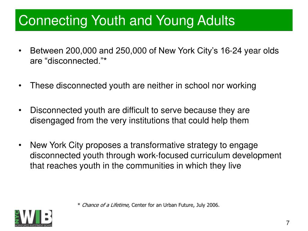 Connecting Youth and Young Adults