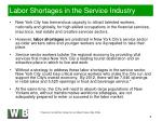 labor shortages in the service industry