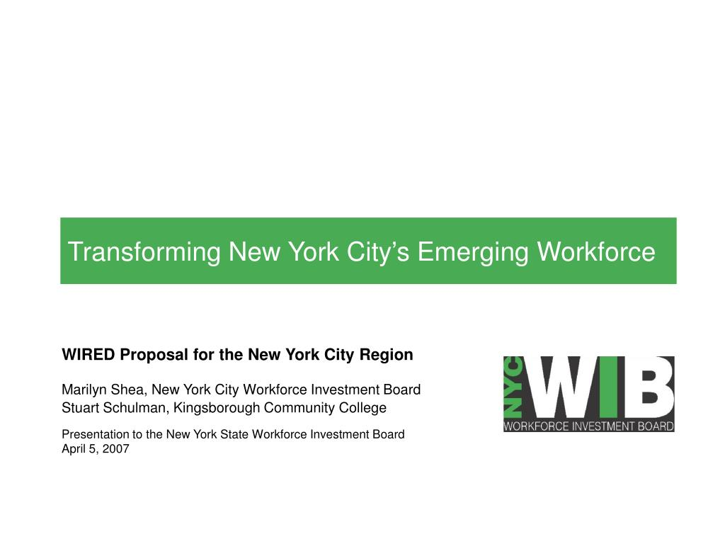transforming new york city s emerging workforce l.