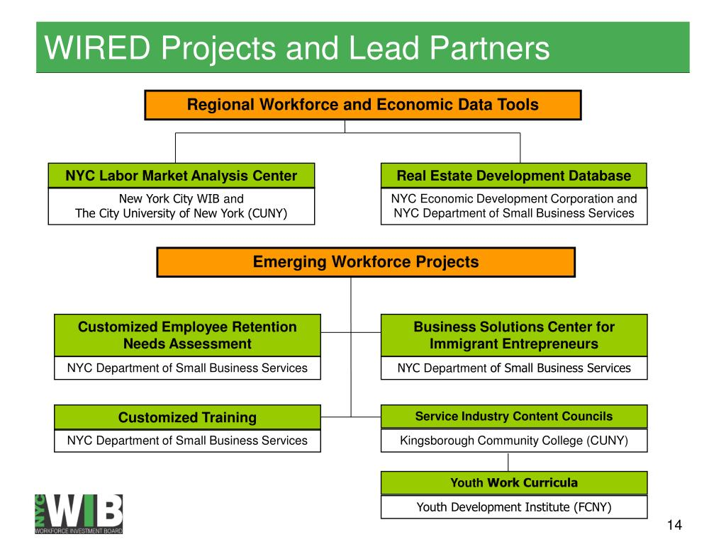 WIRED Projects and Lead Partners