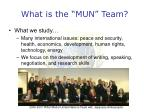 what is the mun team3