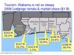 tourism alabama is not so sleepy 2006 lodgings rentals market share 1 b
