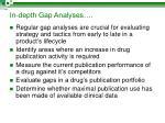 in depth gap analyses
