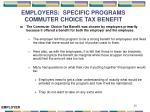 employers specific programs commuter choice tax benefit
