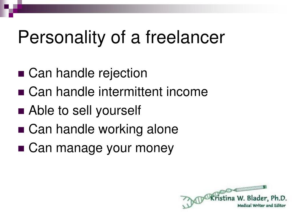 Personality of a freelancer