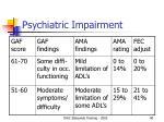psychiatric impairment40