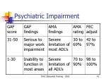 psychiatric impairment41