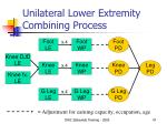 unilateral lower extremity combining process