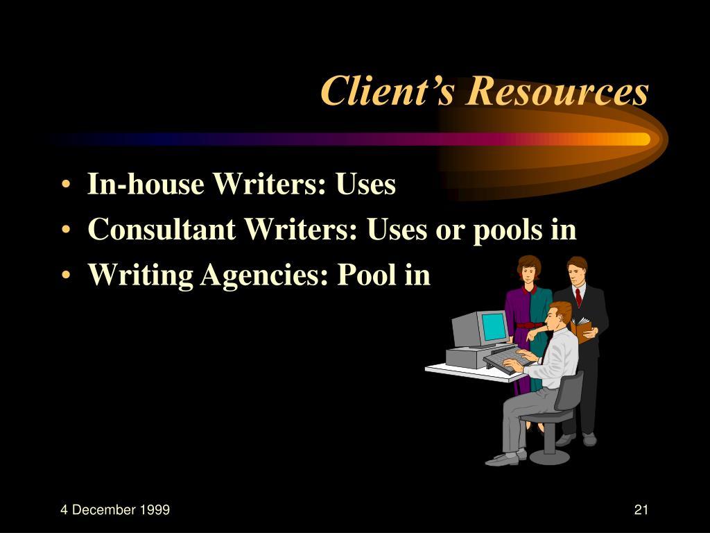 Client's Resources
