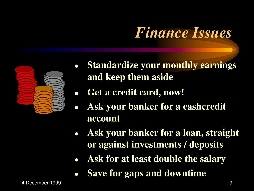 Finance Issues