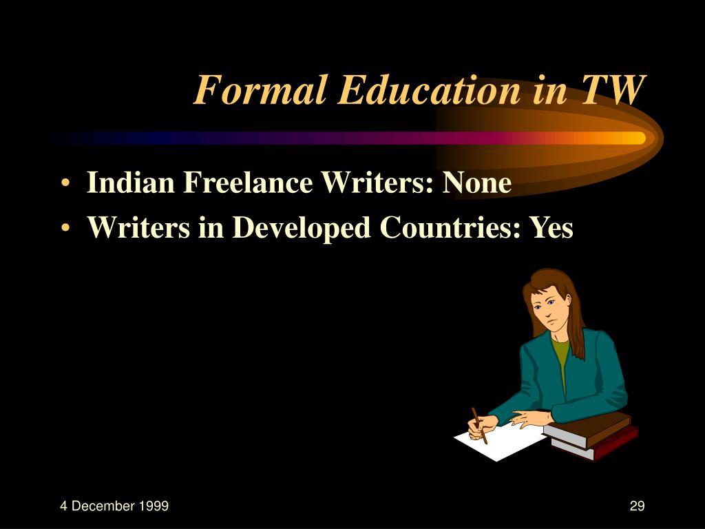Formal Education in TW