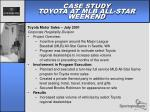 case study toyota at mlb all star weekend