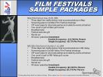 film festivals sample packages