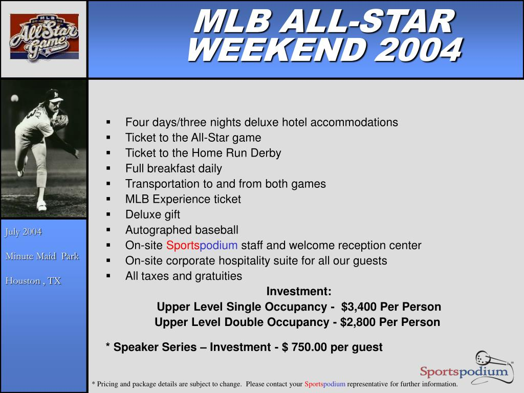 MLB ALL-STAR WEEKEND 2004