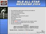 mlb all star weekend 2004