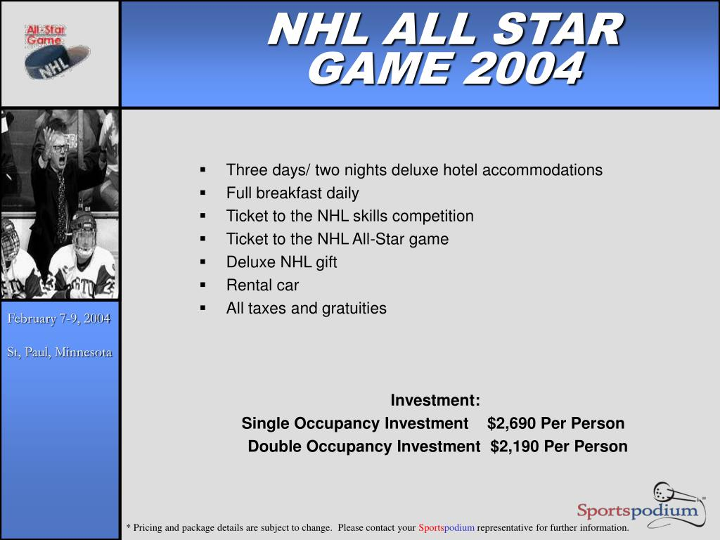 NHL ALL STAR GAME 2004
