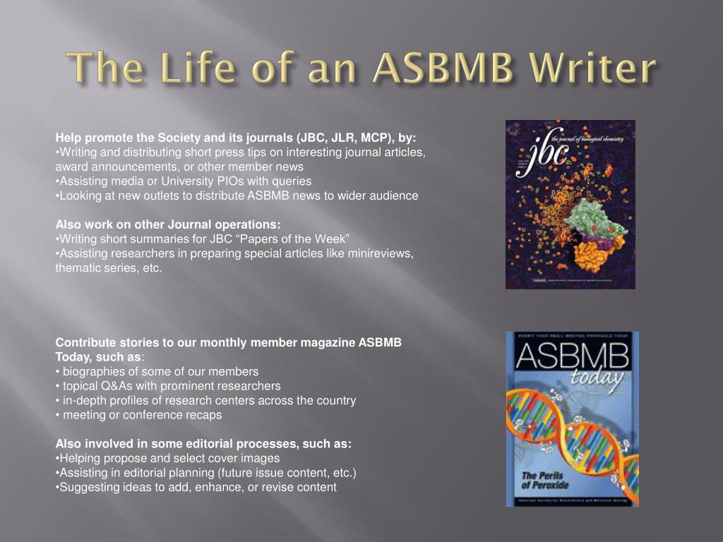 The Life of an ASBMB Writer