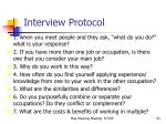 interview protocol