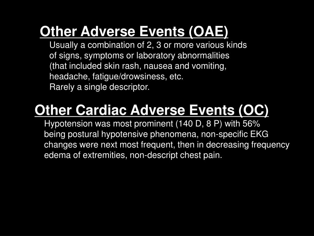 Other Adverse Events (OAE)