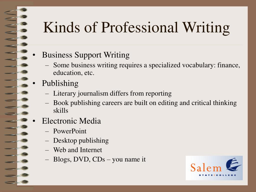 Kinds of Professional Writing