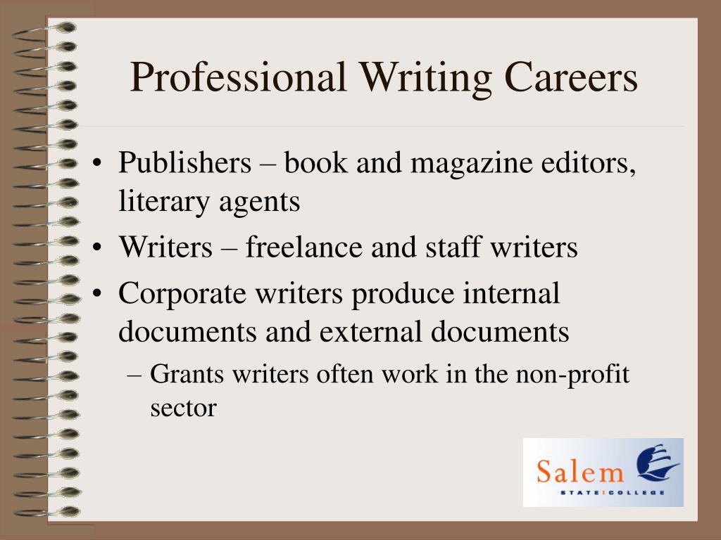 Professional Writing Careers