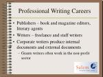 professional writing careers