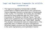 legal and regulatory frameworks for wildlife conservation