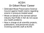 acsh dr gilbert ross career