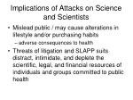 implications of attacks on science and scientists25