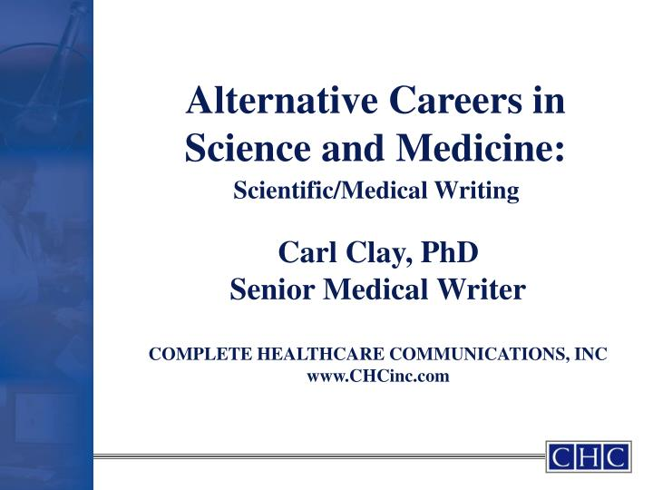 Alternative careers in science and medicine
