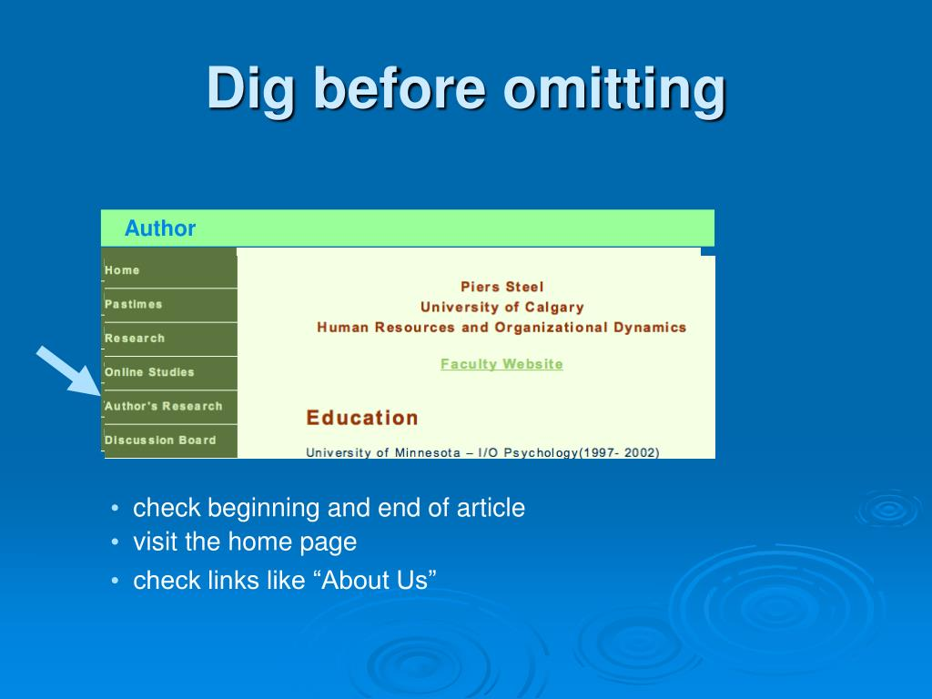 check beginning and end of article