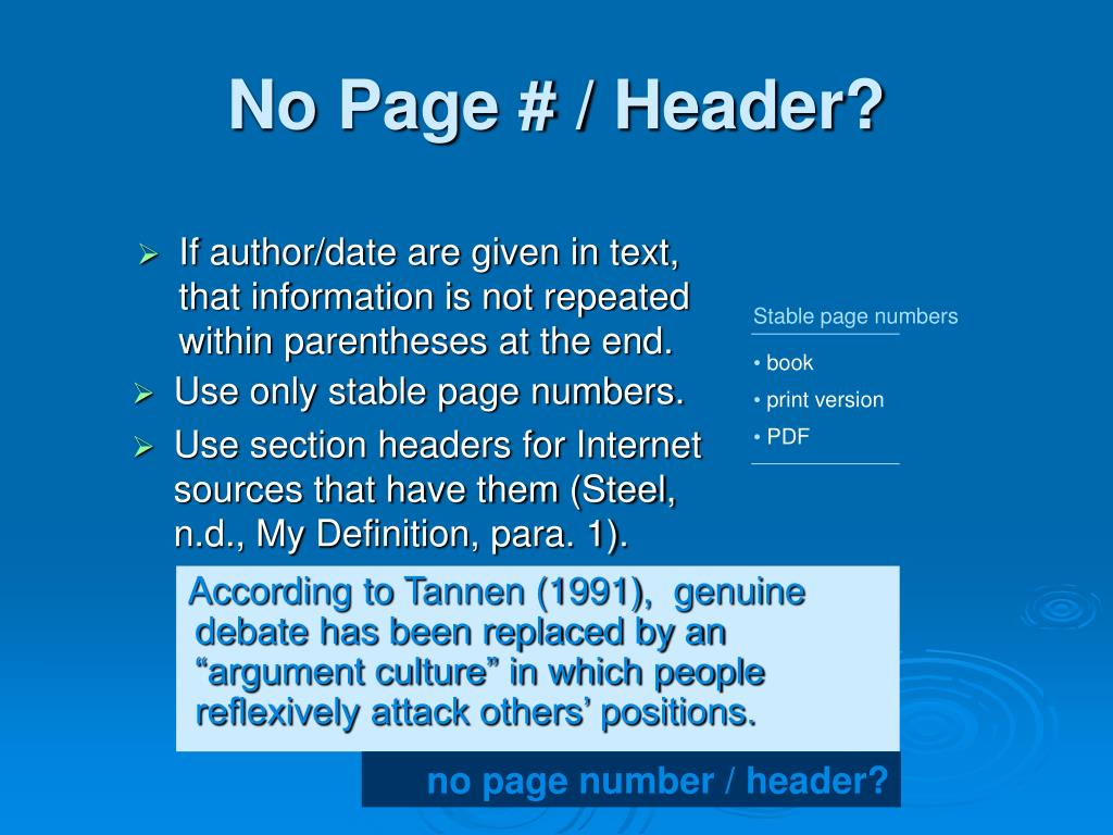 Stable page numbers