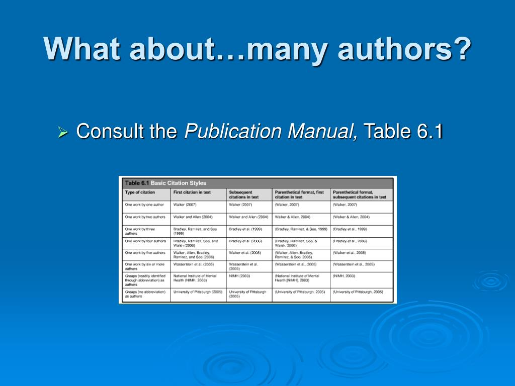 What about…many authors?