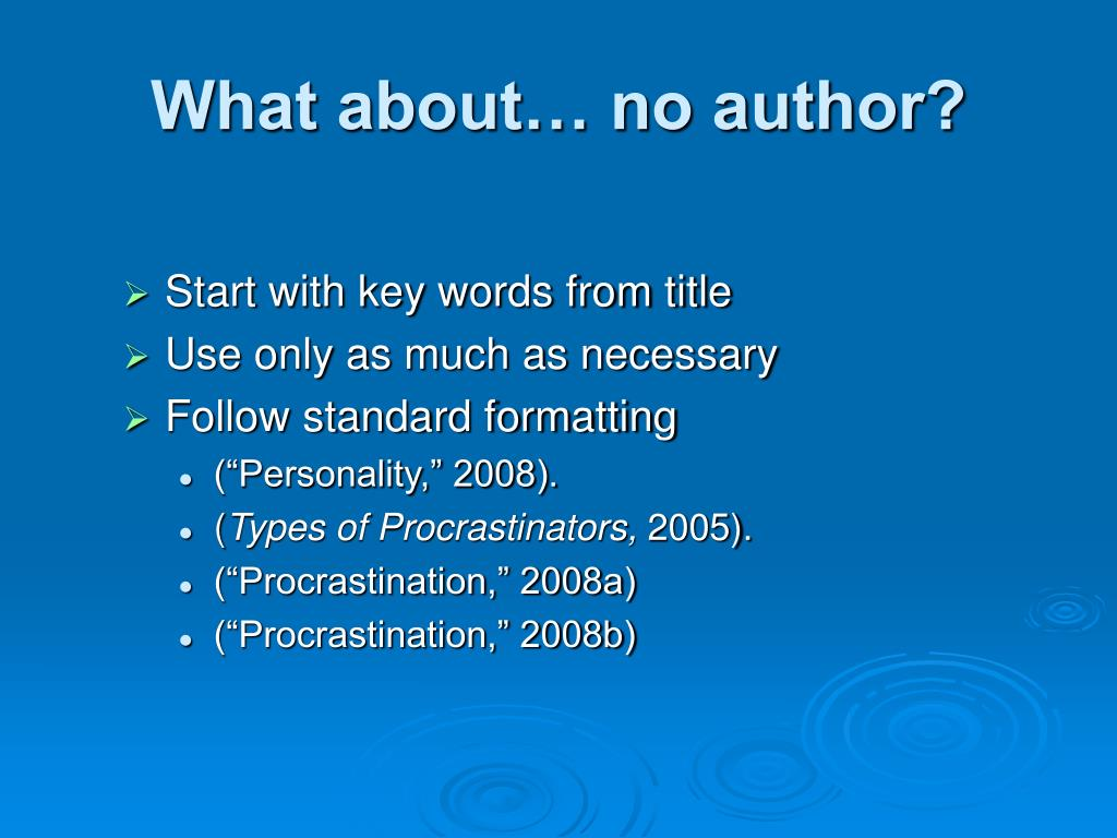 What about… no author?