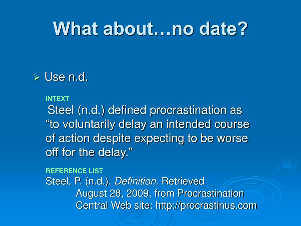 What about…no date?