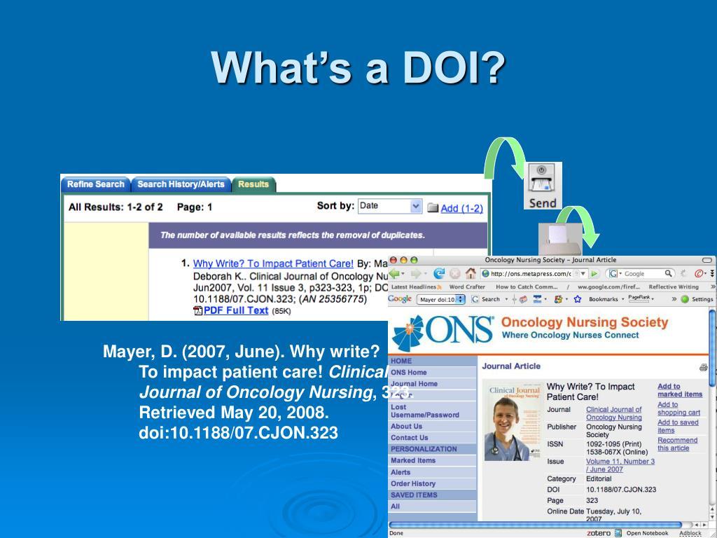 What's a DOI?