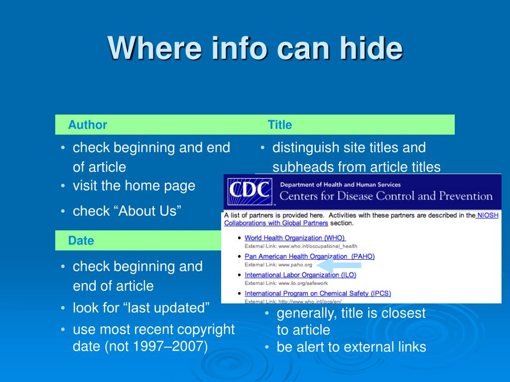 Where info can hide