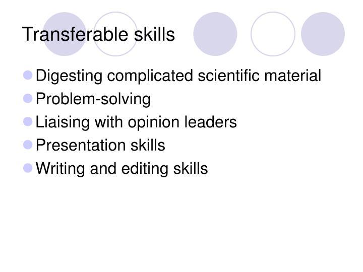 Transferable skills